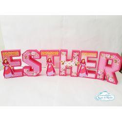 Letra 3d Rainha Esther