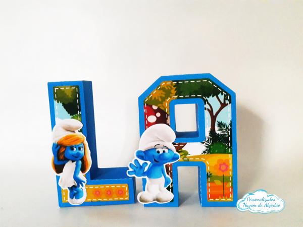 Letra 3d Smurfs-Letra 3d Smurfs Atenção: Valor referente a unidade da letra!  Fazemos em qualquer tema. Envie