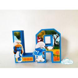 Letra 3d Smurfs