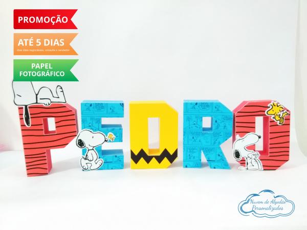 Letra 3d Snoopy-Letra 3d Snoopy Atenção: Valor referente a unidade da letra!  Fazemos em qualquer tema. Envie