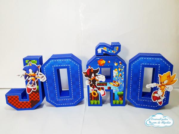 Letra 3d Sonic-Letra 3d Sonic  Atenção: Valor referente a unidade da letra!  Fazemos em qualquer tema. Envie
