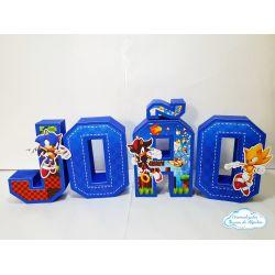 Letra 3d Sonic