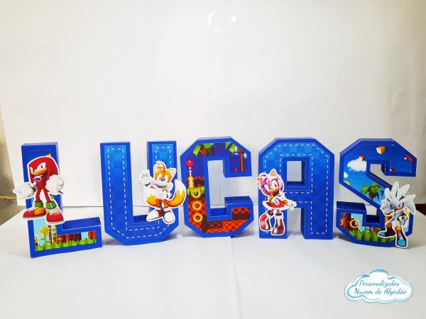 Letra 3d Sonic - turma do sonic-Letra 3d Sonic - turma do sonic  Atenção: Valor referente a unidade da letra!  Fazemos em qual
