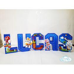 Letra 3d Sonic - turma do sonic