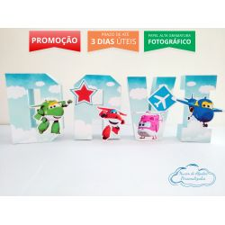 Letra 3d Super Wings - Céu