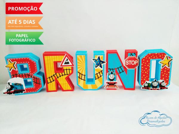 Letra 3d Thomas e seus amigos-Letra 3d Thomas e seus amigos Atenção: Valor referente a unidade da letra!  Fazemos em qualquer