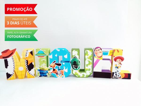 Letra 3d Toy Story-Letra 3d Toy Story Atenção: Valor referente a unidade da letra!  Fazemos em qualquer tema. Env