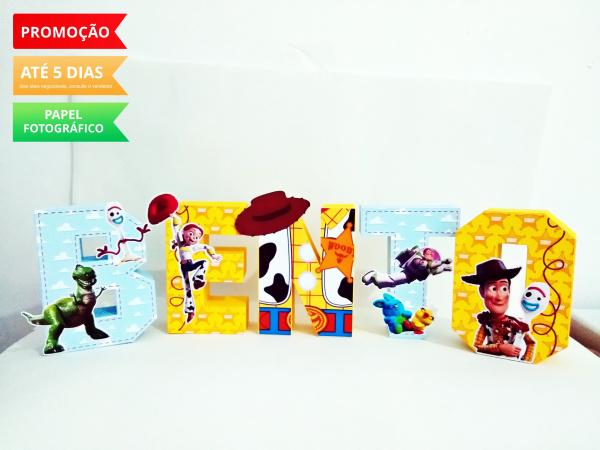 Letra 3d Toy Story 4-Letra 3d Toy Story 4 Atenção: Valor referente a unidade da letra!  Fazemos em qualquer tema. E