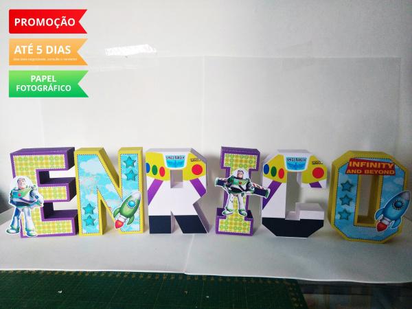 Letra 3d Toy Story - Buzz Lightyear-Letra 3d Toy Story - Buzz Lightyear Atenção: Valor referente a unidade da letra!  Fazemos em qu