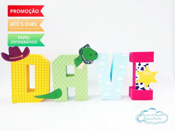 Letra 3d Toy Story minimalista-Letra 3d Toy Story minimalista Atenção: Valor referente a unidade da letra!  Fazemos em qualque