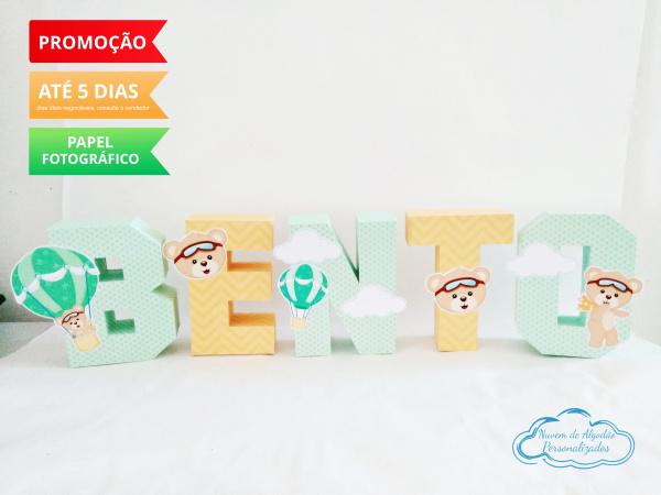 Letra 3d Ursinho Baloeiro-Letra 3d Ursinho Baloeiro  Atenção: Valor referente a unidade da letra!  Fazemos em qualquer t