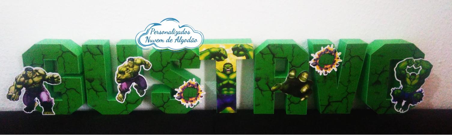 Letra 3d Vingadores - Hulk-Letra 3d Vingadores - Hulk Atenção: Valor referente a unidade da letra!  Fazemos em qualquer te