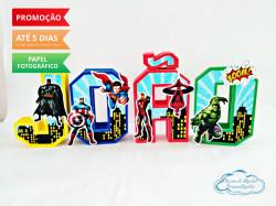 Letra 3d Vingadores - Prédios