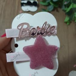 Par hair clips Barbie