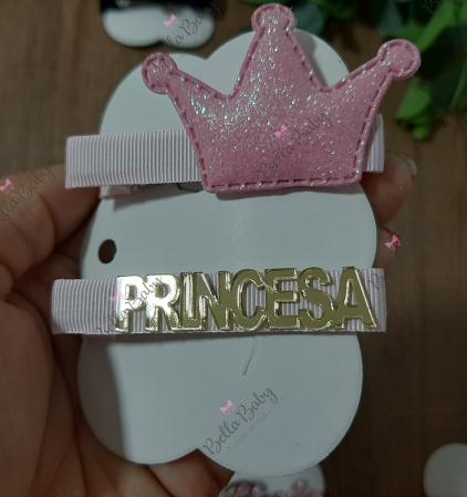 Par hair clips Princesa-Trio hair clips com acrílico  princesa  Temos várias combinações e modelos.    Por se tratar