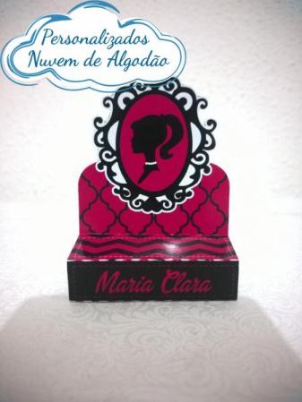 Porta bis duplo Barbie - rosa escuro-Porta bis duplo Barbie - rosa escuro Fazemos em qualquer tema. Envie nome e idade para personaliza