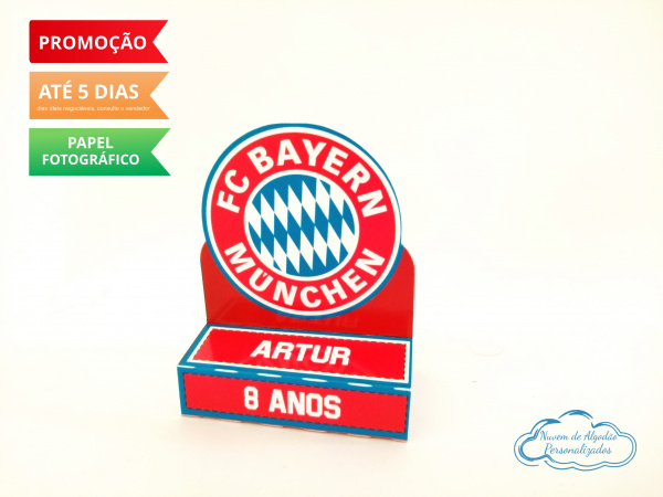 Porta bis duplo Bayern Munchen-Porta bis duplo Bayern Munchen Fazemos em qualquer tema. Envie nome e idade para personalização.