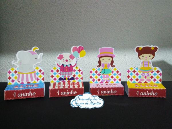 Porta bis duplo Circo rosa-Porta bis duplo Circo rosa Fazemos em qualquer tema. Envie nome e idade para personalização.