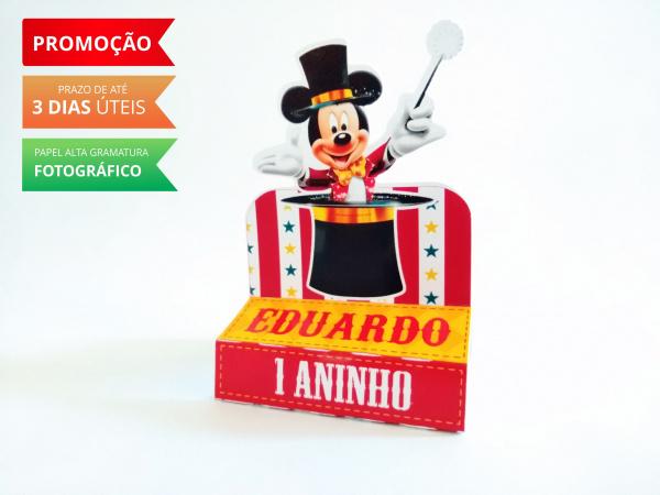 Porta bis duplo Circo do Mickey-Porta bis duplo Circo do Mickey Fazemos em qualquer tema. Envie nome e idade para personalização
