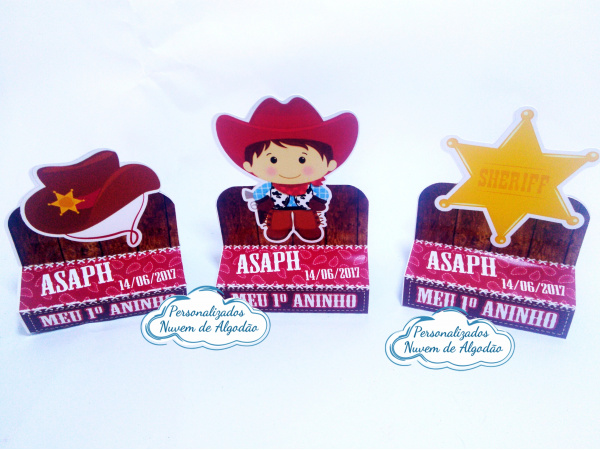 Porta bis duplo Cowboy - chapéu, menino e estrela dourada-Porta bis duplo Cowboy - chapéu, menino e estrela dourada Fazemos em qualquer tema. Envie nome e