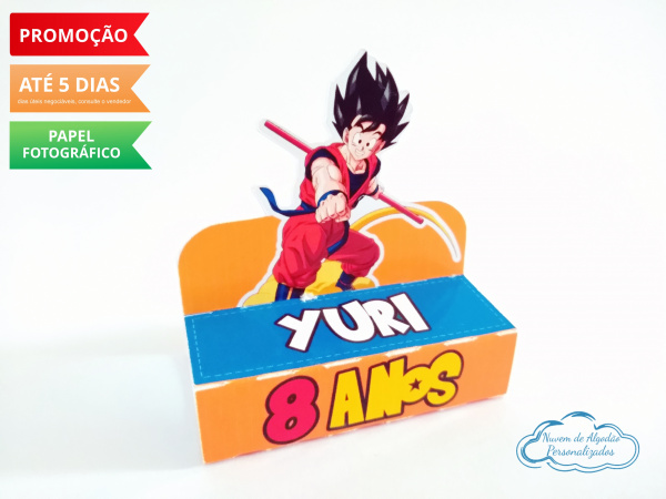 Porta bis duplo Dragon Ball-Porta bis duplo Dragon Ball Fazemos em qualquer tema. Envie nome e idade para personalização.