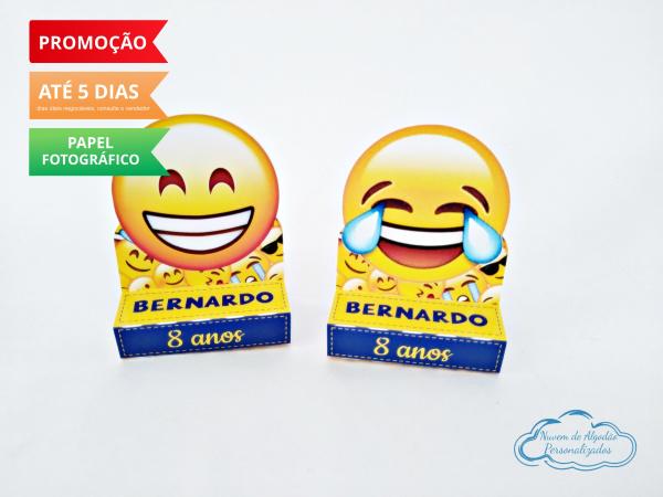Porta bis duplo Emoji-Porta bis duplo Emoji Fazemos em qualquer tema. Envie nome e idade para personalização.  - Pro