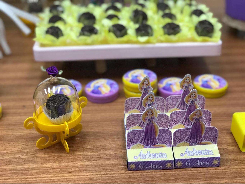 Nuvem de algodão personalizados - Porta bis duplo Enrolados Rapunzel