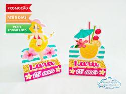 Porta bis duplo Flamingo e Abacaxi