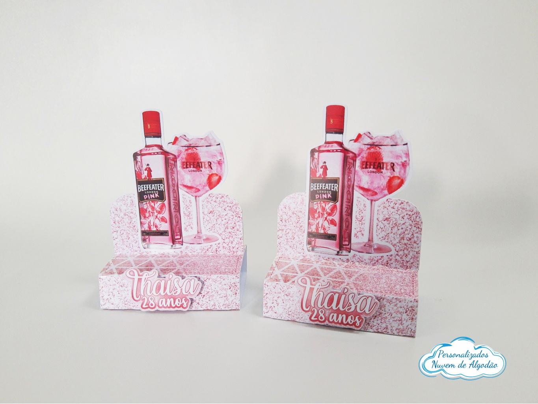 Nuvem de algodão personalizados - Porta bis duplo Gin Rosa
