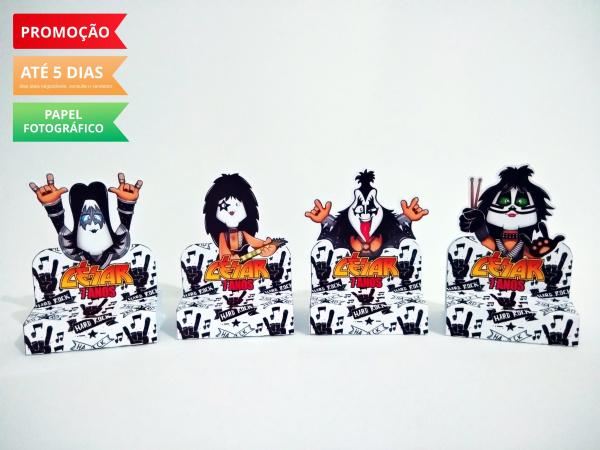 Porta bis duplo Kiss-Porta bis duplo Kiss Fazemos em qualquer tema. Envie nome e idade para personalização.  - Prod
