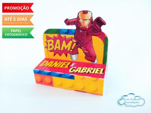 Porta bis duplo Lego-Porta bis duplo Lego Fazemos em qualquer tema. Envie nome e idade para personalização.  - Prod