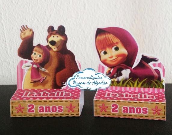 Porta bis duplo Masha e o Urso-Porta bis duplo Masha e o Urso Fazemos em qualquer tema. Envie nome e idade para personalização.