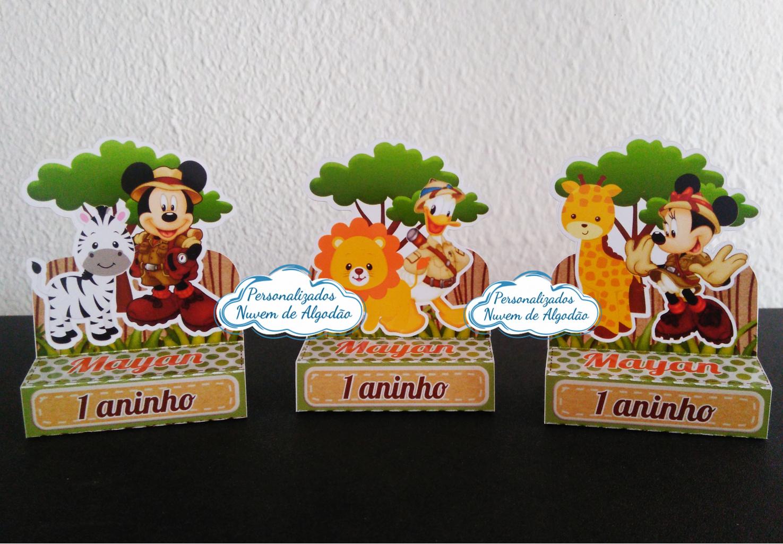 Nuvem de algodão personalizados - Porta bis duplo Mickey Safari