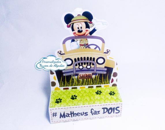 Porta bis duplo Mickey Safari-Porta bis duplo Mickey Safari Fazemos em qualquer tema. Envie nome e idade para personalização.