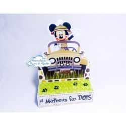 Porta bis duplo Mickey Safari