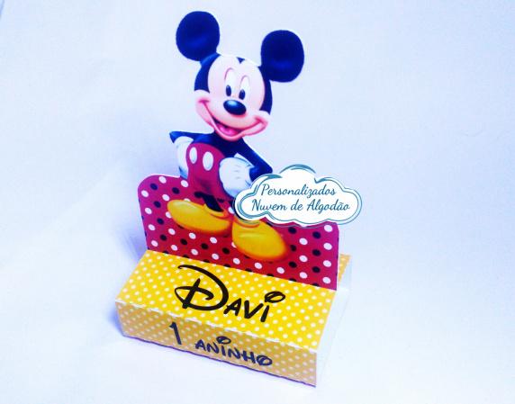 Porta bis duplo Mickey-Porta bis duplo Mickey Fazemos em qualquer tema. Envie nome e idade para personalização.  - Pr