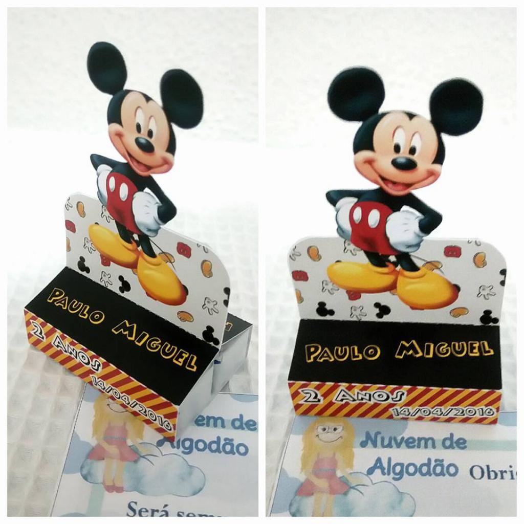 Nuvem de algodão personalizados - Porta bis duplo Mickey