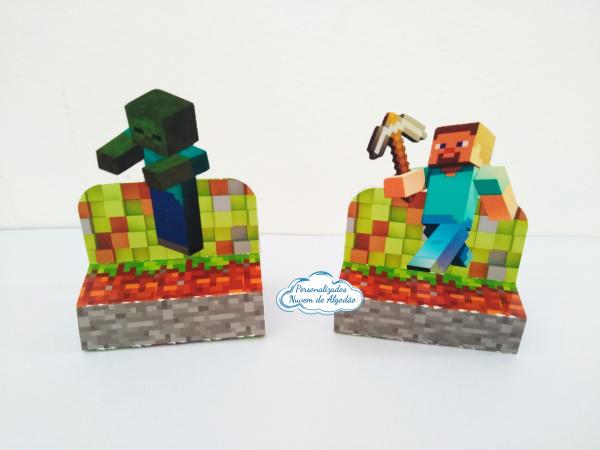 Porta bis duplo Minecraft-Porta bis duplo Minecraft Fazemos em qualquer tema. Envie nome e idade para personalização.  -