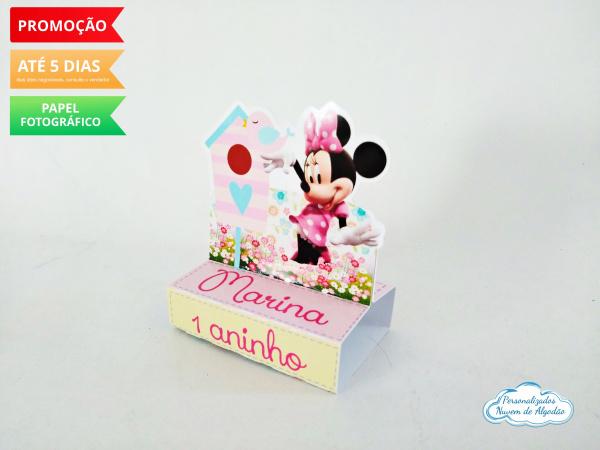 Porta bis duplo Minnie Rosa-Porta bis duplo Minnie Rosa Fazemos em qualquer tema. Envie nome e idade para personalização.