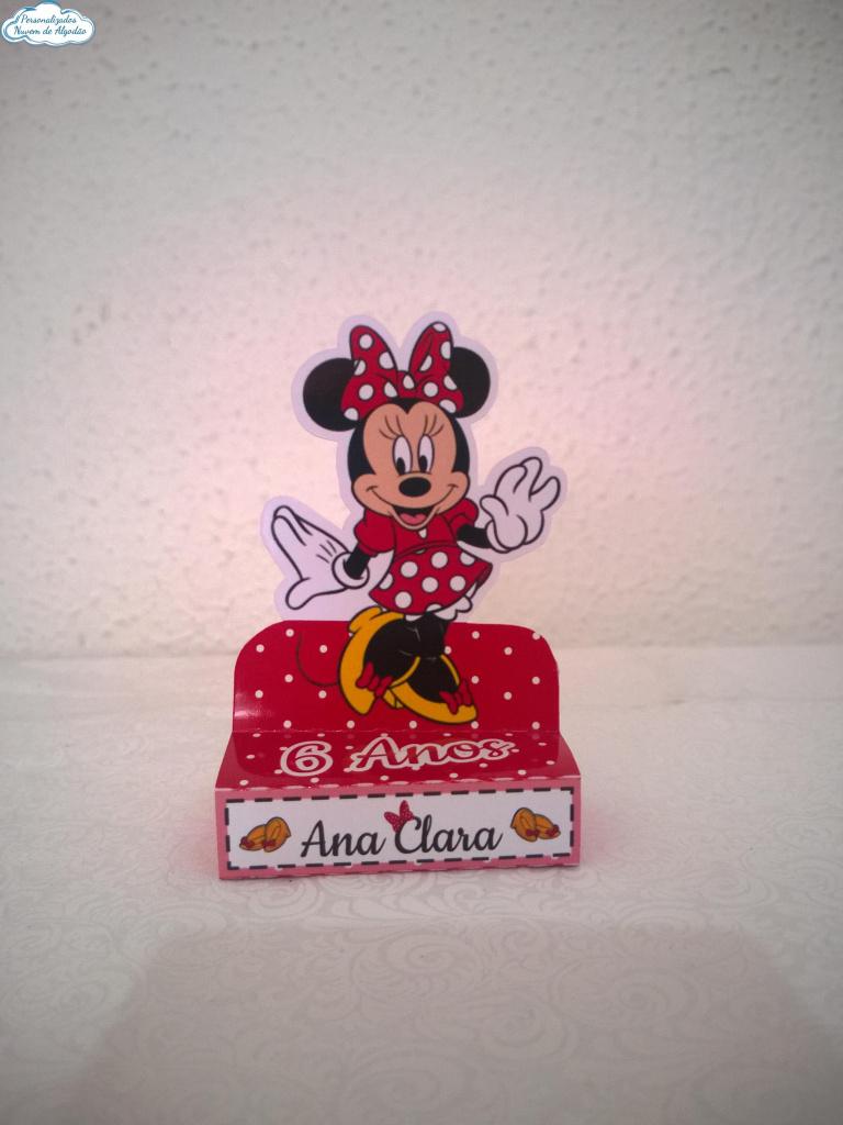 Nuvem de algodão personalizados - Porta bis duplo Minnie Vermelha