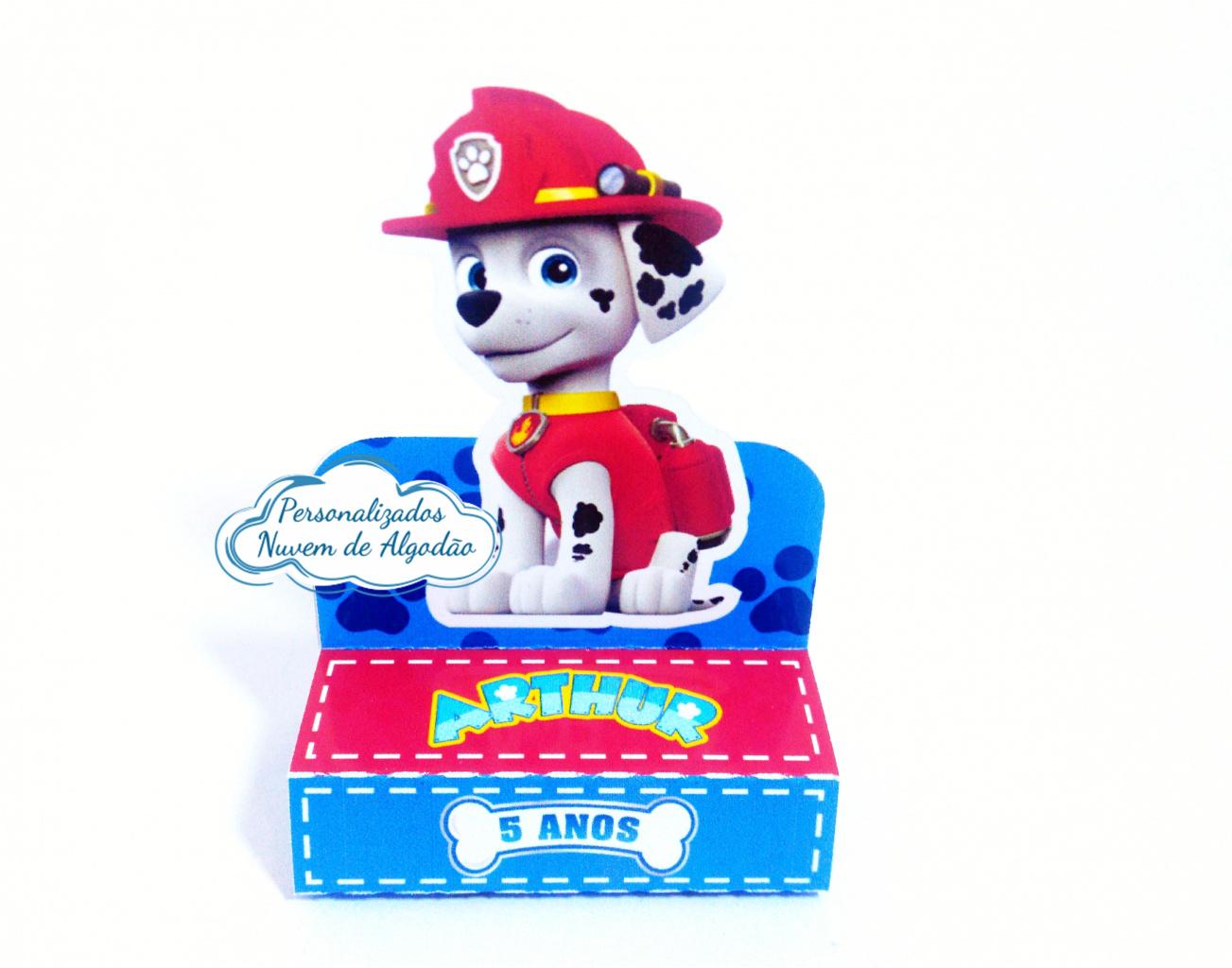 Nuvem de algodão personalizados - Porta bis duplo Patrulha Canina