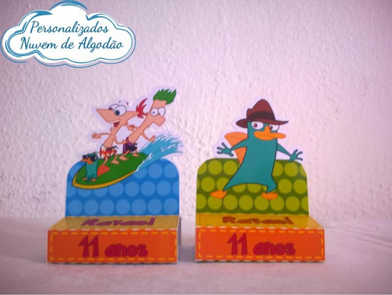 Nuvem de algodão personalizados - Porta bis duplo Phineas e Ferbs