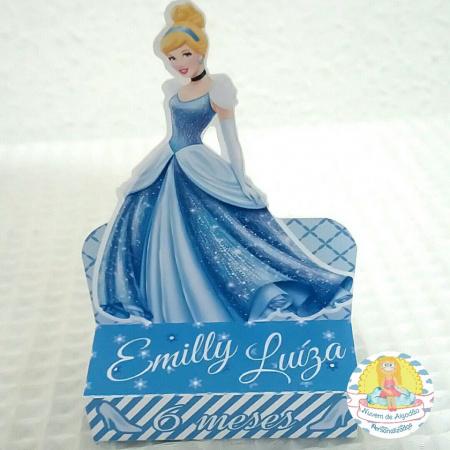 Porta bis duplo Princesa Cinderela-Porta bis duplo Princesa Cinderela Fazemos em qualquer tema. Envie nome e idade para personalizaç