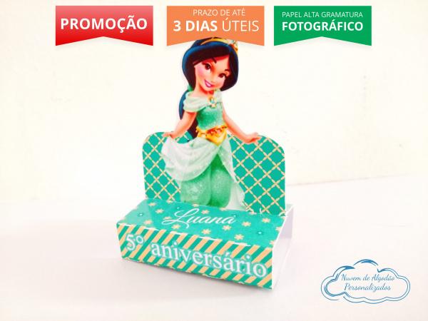 Porta bis duplo Princesa Jasmine Baby-Porta bis duplo Princesa Jasmine Baby Fazemos em qualquer tema. Envie nome e idade para personaliz