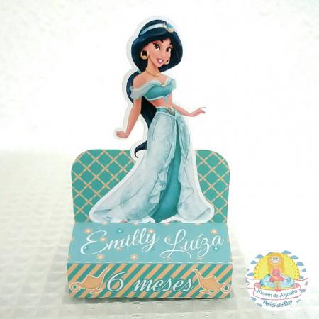 Porta bis duplo Princesa Jasmine-Porta bis duplo Princesa Jasmine Fazemos em qualquer tema. Envie nome e idade para personalizaçã