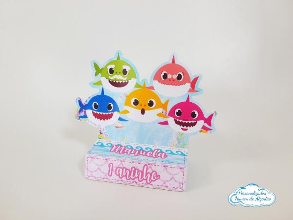 Porta bis duplo Shark Baby-Porta bis duplo Shark Baby Fazemos em qualquer tema. Envie nome e idade para personalização.