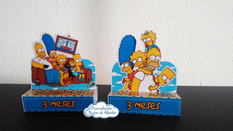 Porta bis duplo Simpsons-Porta bis duplo Simpsons Fazemos em qualquer tema. Envie nome e idade para personalização.  -