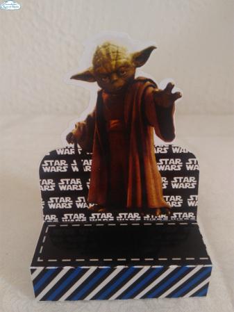 Porta bis duplo Star Wars YODA-Porta bis duplo Star Wars YODA Fazemos em qualquer tema. Envie nome e idade para personalização.