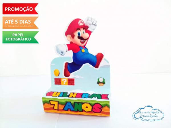 Porta bis duplo Super Mario-Porta bis duplo Super Mario Fazemos em qualquer tema. Envie nome e idade para personalização.