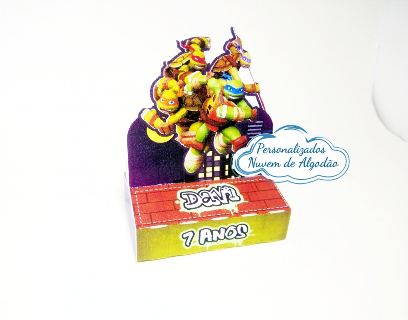 Nuvem de algodão personalizados - Porta bis duplo Tartarugas ninja
